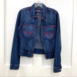 Guess Women's Blue Jean Jacket Size Small
